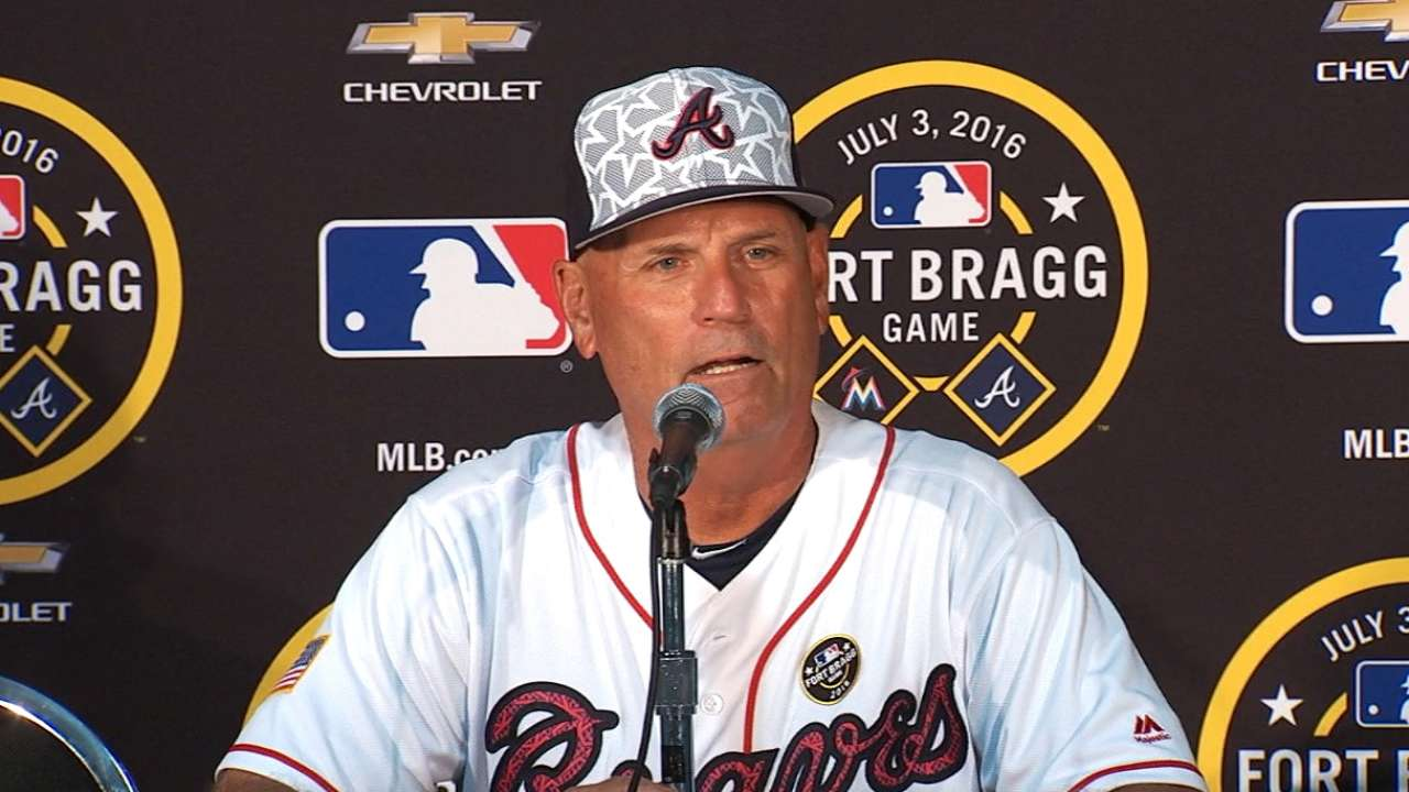Braves continue trip after Fort Bragg highlight